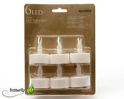 6 LED Teelichter SET flackernde elektrische flammenlose Kerzen mit Batterie