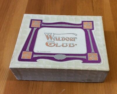 VINTAGE WALDORF CLUB ART-NOUVEAU NOTE PAPER BOX