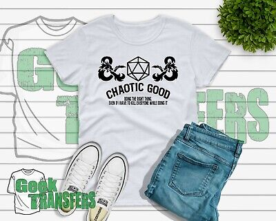 Free Dungeons And Dragons Rpg - Dungeons And Dragons Chaootic good T-shirt UK seller Free Postage RPG Gamer DnD