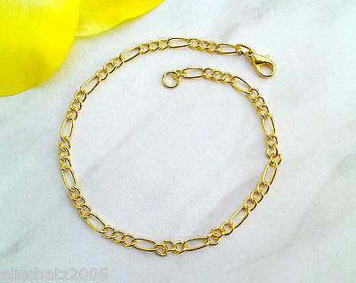 Armband Gliederarmband für Charms Armkette Bettelarmband vergoldet Längenwahl ()