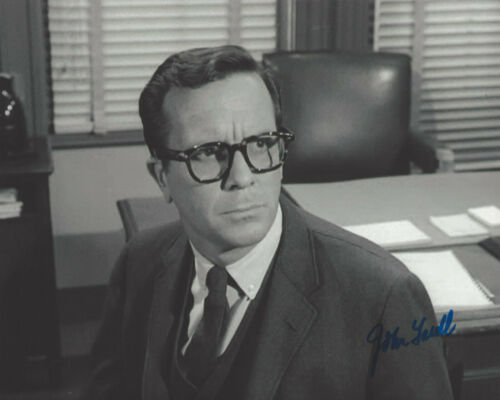 ACTOR JOHN LASELL SIGNED 8x10 PHOTO 2 w/COA DARK SHADOWS THE TWILIGHT ZONE