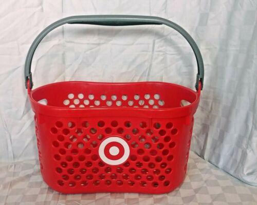 Target Red Logo Plastic Shopping Basket w/ Gray Handle
