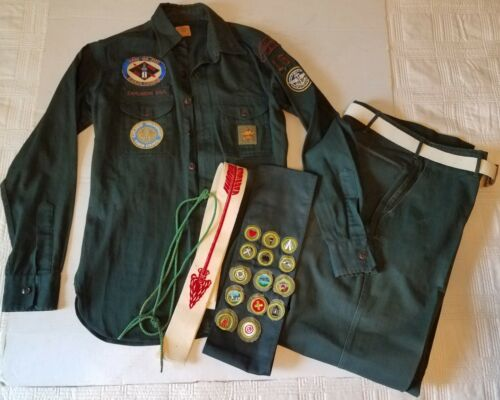 Early BSA Boy Scouts Uniform Patches Sash Kanza council Explorer Great Bend KS