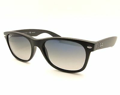 Ray Ban New Wayfarer 2132 601S/78 Matte Black Blue Grey Gradient Polarized New