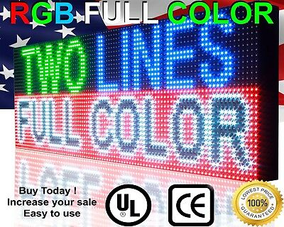 19 X 63 Full Color Billboard Outdoor Led Sign Pc Lan Bar Programmable Marquee
