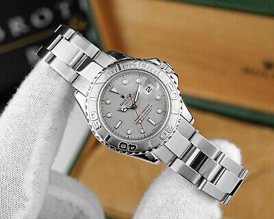 Rolex Yacht Master Ladies 29mm Watch With Platinum Dial & Bezel - Ref. 169622
