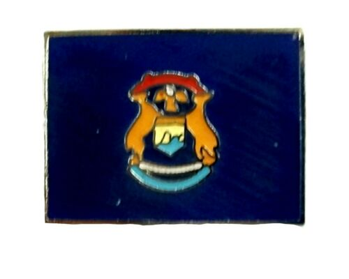 Michigan State Flag Hat Tac or Lapel Pin