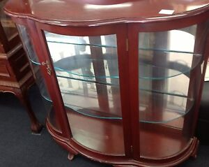 Maghogany and glass china cabinet Ashmore Gold Coast City Preview