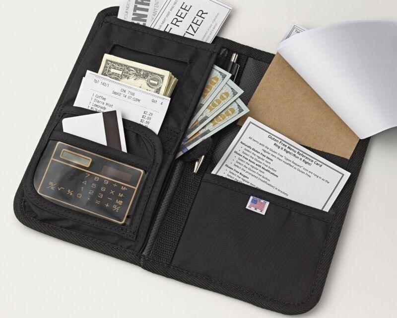 Server Book/Wallet | Waitress Wallets | Waitstaff Organizer with FREE order pad!