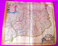 Mapa, Principatus Cataloniae Nec Non Comitatuum Ruscinonensis Cerretaniae 1665 -  - ebay.es
