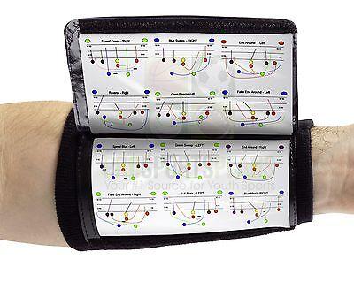 Wristcoaches Com 3 Pocket Football Wrist Coach Youth Wristband Quarterback Plays
