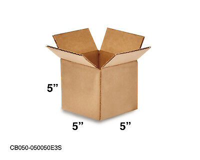 Mailing Moving Packing Shipping Cardboard Corrugated 5x5x5 Boxes 25 50 100 Pack