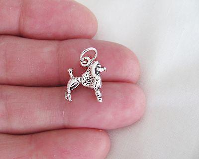 Sterling Silver 3d Poodle Dog -