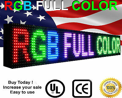 Led Video Sign 6x38 Full Color-outdoor 10mm Programmable Scrolling Text Board