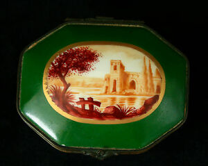 VERY-RARE-EARLY-ESTATE-ANTIQUE-FRENCH-LIMOGES-HAND-PAINTED-TRINKET-BOX-BEAUTIFUL