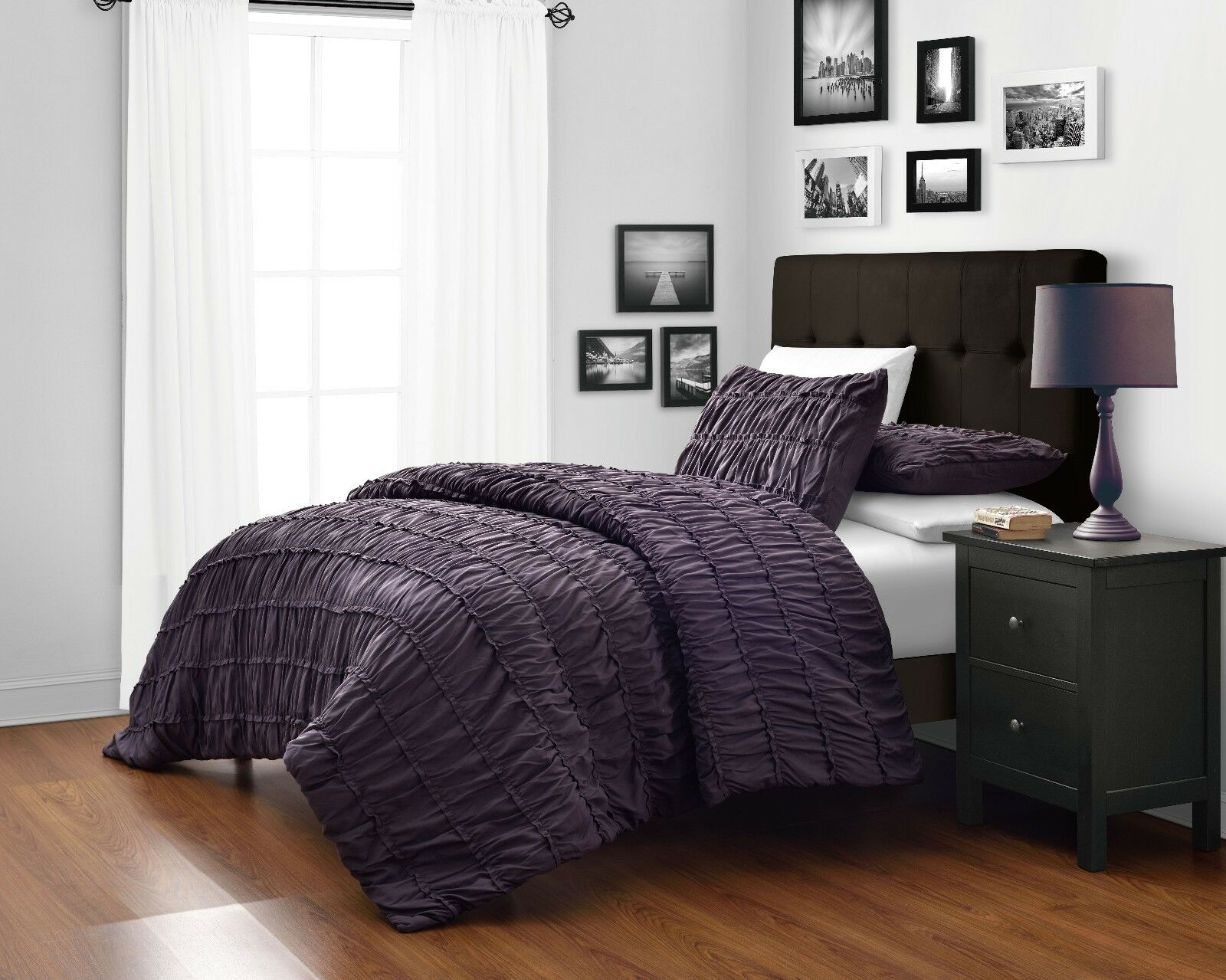 King Size Bedroom Comforter Sets purple king comforter sets - luxurious 7-piece comforter set king