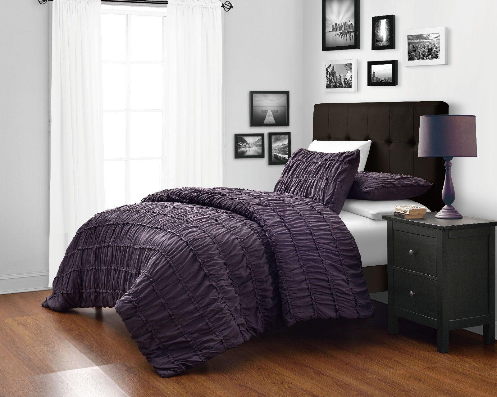 King Size Bedroom Comforter Sets purple king comforter sets - luxurious 7-piece comforter set king