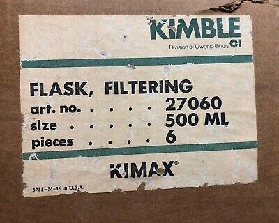 Kimax Fliter Flask 500 Ml 6 Pcs Chemistry Lab Glassware