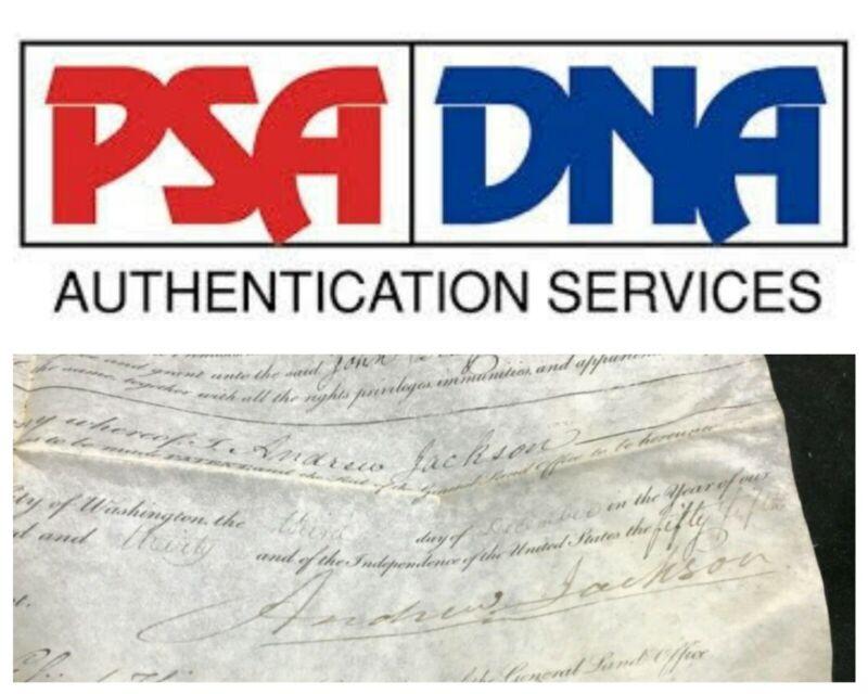 ANDREW JACKSON SIGNATURE AUTOGRAPH PSA/DNA AUTHENTIC!