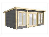 6m x 4m log cabin