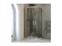 Hydrolux 800mm Quadrant Shower Enclosure - 6mm Glass with Tray