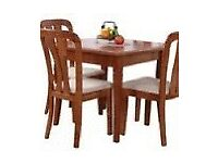 Cherry Dining Table with 4 matching chairs