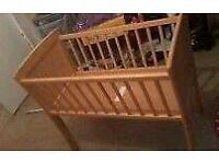 Crib with matress