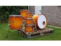 Mapex Pro-M Limited Edition In Honey Maple Burst, Shells Only. Excellent Con.