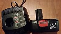 Craftsmen 19.2V Battery and Charger  Charger is Great Battery is