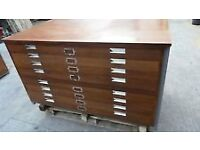 Heavy Duty 8 Drawer Wooden Plan Chest - I also have metal plan chests available for sale