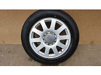 audi 16 inch a6/a4/ c5 spare alloy wheel with good tyre