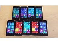 Job lot Nokia Lumia 635 Microsoft Smart phones 8.1 4.5&quot IPS LCD screen 5megapixel camera 8GB RAM