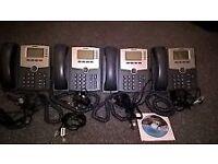 CISCO SPA504G VOIP 4 LINE IP TELEPHONE PHONE POE WITH AC ADAPTOR x 4 PHONES
