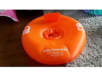 MOTHERCARE BABY INFLATABLE SWIM RING SEAT AGE 0- 1 YEAR
