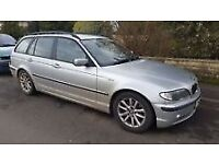 Silver BMW 320d Touring (estate), 2005, breaking for spare parts, front headlamp unit
