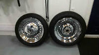Two 17inch Solid Chrome Harley-Davidson Fat Boy Rims