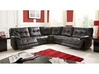 Max corner leather sofa