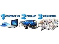 Cash paid for all unwanted vehicles