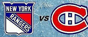 MTL Canadiens vs NY Rangers - Playoffs Game #2