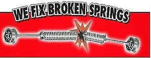 BROKEN GARAGE DOOR SPRING FLAT RATE INSTALLED $109