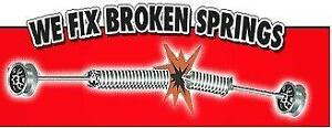 Broken Garage Door Spring, $90 FOR 1, $160 FOR 2 With Install