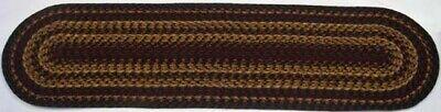 IHF Braided Runner Rug Oval Shape Cinnamon Wine Gold Sage Jute Fabric 13