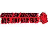Vintage Speed Skull HELL BENT TO WIN Toolbox Garage Decal Sticker 2 PACK 768L