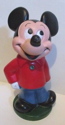 """VINTAGE 1970'S DISNEY PLAY PAL PLASTICS MICKEY MOUSE CLUB FIGURAL COIN BANK 11"""""""