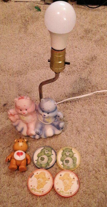 Care Bear Ceramic Lamp Baby Hugs Tugs vintage figure party favors 1980s lot 80s