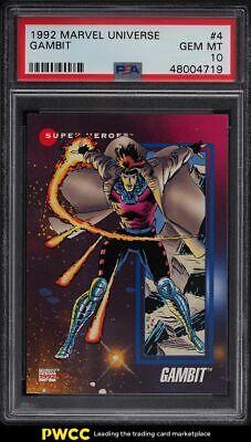 1992 Marvel Universe Gambit 4 PSA 10 GEM MINT - $55.00