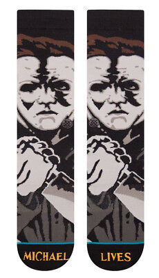 Halloween Michael Myers Lives Stance Socks Large Men's 9-12 Legends Of Horror