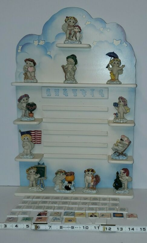The Danbury Mint Angel Cherub Calendar Figurine Dreamsicles