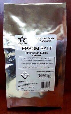 Epsom Salt  Magnesium Sulfate  Fcc  Food Grade 5 Lb Pack 9882