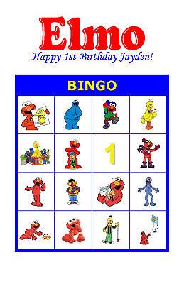 Party Bingo (Elmo Birthday Party Game Bingo)